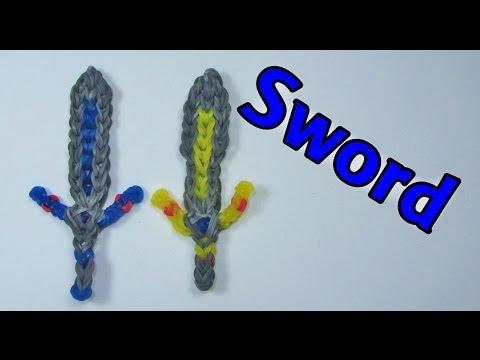 Rainbow Loom Designs: SWORD Charm: How To Design (DIY Mommy)