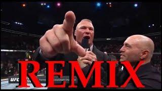 Daniel Cormier and Brock Lesnar Octagon Interviews REMIX