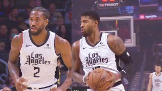Paul George Goes CRAZY With Kawhi Leonard vs Wizards! Clippers vs Wizards 2019 NBA Season