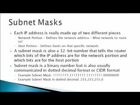 IP Address & Subnet Mask Basics