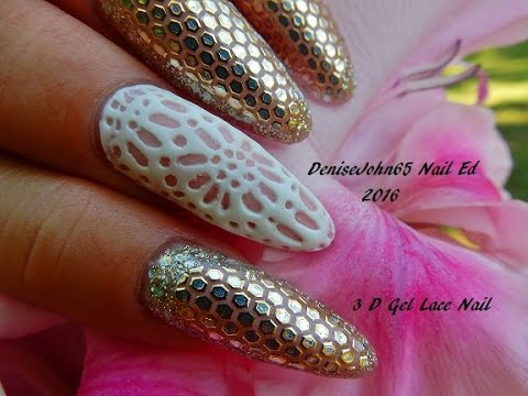 3 D LACE NAIL ----So Delicate and Pretty -----Made with CORSTARCH ???? WHAT !
