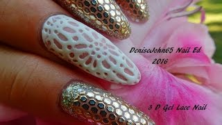 3 D LACE NAIL -------- So Delicate and Pretty ------Sigh ---