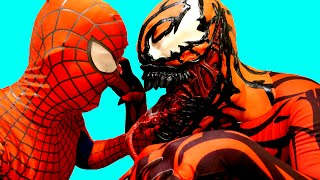 Spiderman VS Carnage in Real Life Superhero Movie Spiderman EPIC Superheroes Battle Kids Superheroes