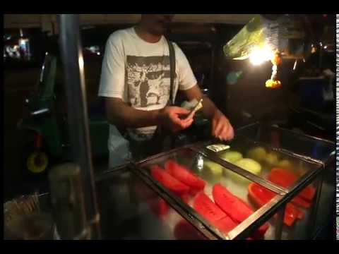 Thailand fruits | Mango juice | Road side food