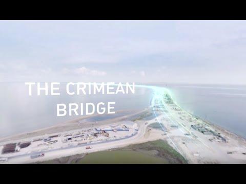 Building the Crimean Bridge: Epic 360-degree bird's eye view (4K)
