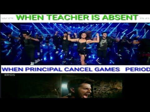 Reaction of students in school, in Bollywood style....