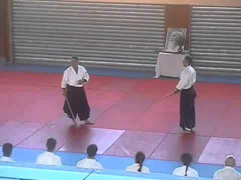 Christian Tissier und Bodo Rdel - bokken kata Image 1