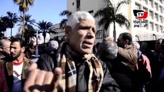 وقفة لعمال الصرف الصحي ببورسعيد للمطالبة بالعودة لـ«المحافظة»