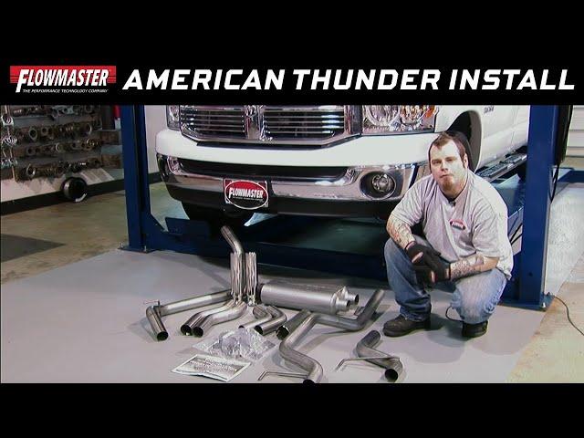 2006-2008 Dodge Ram 1500 Exhaust System Kit # 817423  17423- Installation