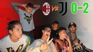 DOMINIO JUVE! Milan 0-2 Juventus REACTION Della Partita - Milanisti VS Juventini