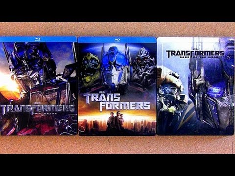 Transformers blu ray steelbook collection Dark of the Moon unboxing review