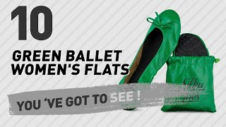 Green Ballet Women's Flats // New & Popular 2017
