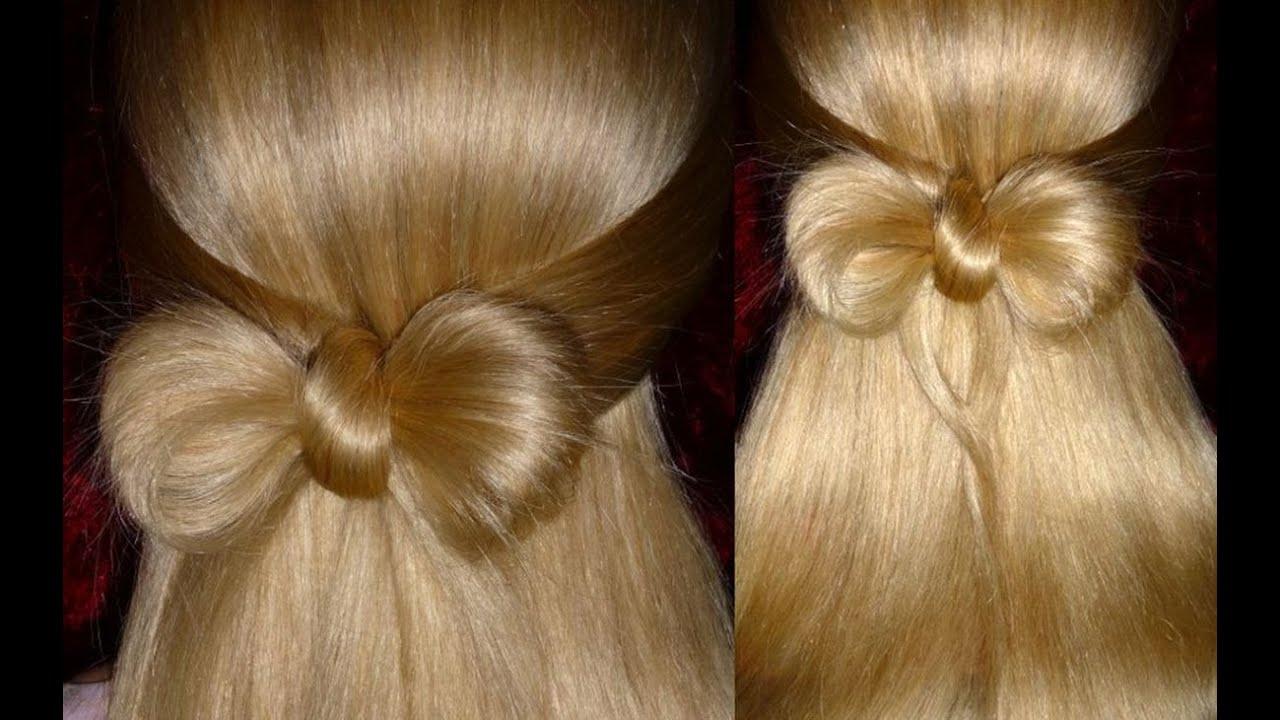 Как сделать бантик из длинного волоса 915