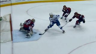 Point gets behind defence scores on backhand
