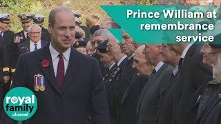 Prince William attends submariners' remembrance service and parade