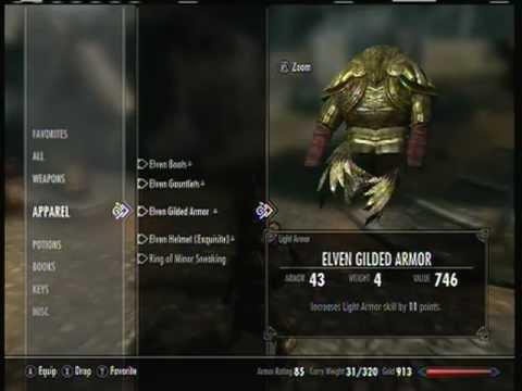 Elven Heavy Armor Skyrim Skyrim Elven Armor And Some