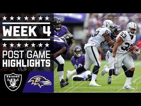 Raiders Vs Ravens Nfl Week 4 Game Highlights