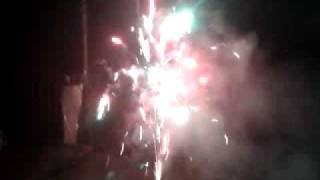 Silvester Diamand Feuerwerk Red light