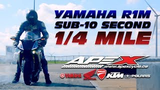 Yamaha R1 M Shows its Drag Racing Prowess in the Quarter Mile