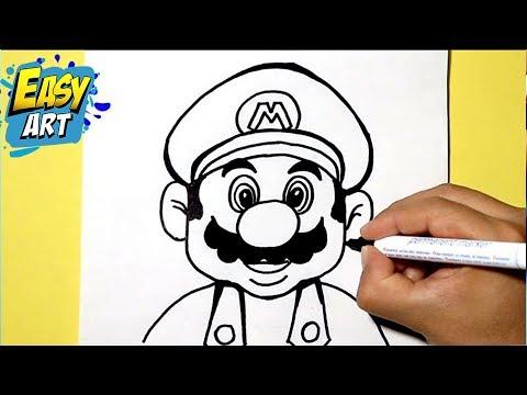 como dibujar a super mario bros how to draw super mario bros pintando a mario bros