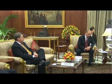 PUTIN MEETS SONIA Gandhi & Pranab MUKHERJEE (Indian National Congress leader & President)