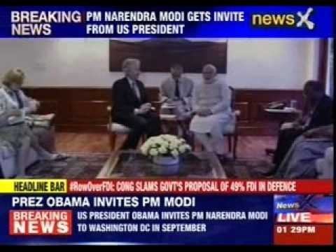 Barack Obama invites Modi to US in September