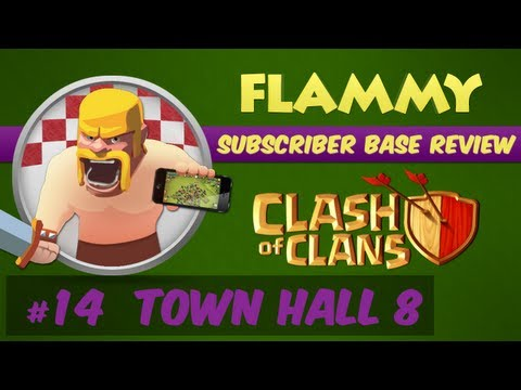 Subscriber Base Review #14 - Town Hall 8 - Your Bases; My Review! Clash of Clans Defensive Strategy