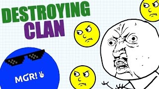 DESTROYING CLAN IN AGARIO // 53K HIGHSCORE // Agar.io