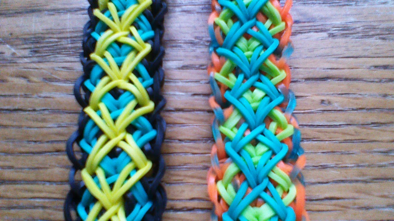 Diamond rainbow loom bracelet