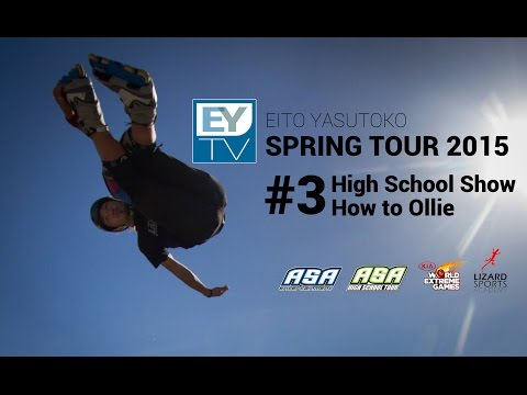 Update : 2015/04/22  Come to check ASA High School Show in Lansing,MI!  Also you can lean about how to Ollie on Skateboard! Pro skater Nolan Munroe give you some amazing advices for try it! Please enjoy tour with EYTV!!  今週のEYTVは、スプリングツアーの第3弾。 ミシガン州・ランシングで行ったショー模様をお届けいたします! さらに!スペシャルゲストのプロスケーター、ノーラン・モンローによる「オーリー」のハウツーもお見逃しなく!!  [Tour Schedule] April 6 - 12 Detroit April 13 - 17 Lansing, MI April 20 - 21 Indianapolis, IN April 22 - 27 China, Shanghai (Demo @ Kia World Extreme Games) Ap 27 - My 1 Chicago, IL May 4 - 8 Minneapolis, MN   High School Tour WEB : http://asahighschooltour.com  [Special Thanks] Nolan Munroe Facebook : https://www.facebook.com/nolan.munroe  安床エイト / Eito Yasutoko WEB : http://eitoyasutoko.com Facebook : https://www.facebook.com/EitoYasutoko Instagram : @eyasutoko