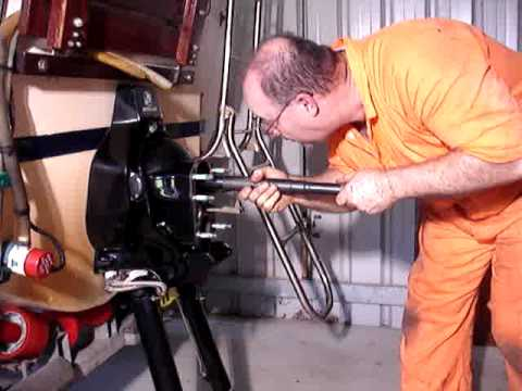 Checking Mercruiser engine alignment