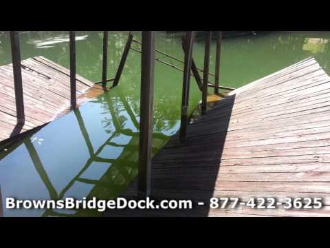 Refloat Sunken Boat Docks on Lake Lanier Georgia