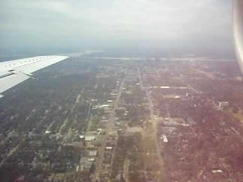Landing at Memphis international airport