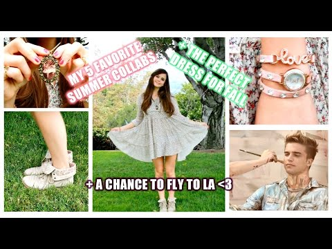 5 FAV SUMMER COLLABS + Perfect Fall Outfit + Chance to fly to LA ❤