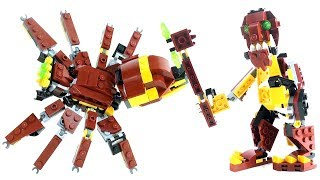 Lego Mythical Creatures Troll Giant Spider 31073 - Lego Spider Axe-Bearing Troll - Lego Speed Build