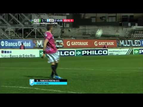 vea el insolito gol en contra en argentina