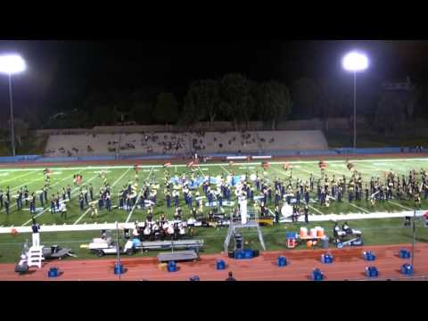 Walnut HS Blue Thunder Marching Band & Color Guard 9-12-2014