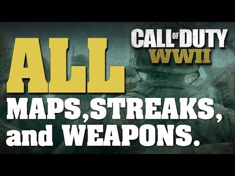 Call Of Duty WW2 All Items, Maps, Scorestreaks, Variants, Basic Training Skills, Camos, Challenges