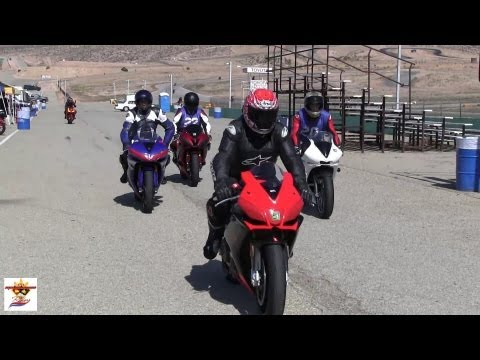 Motorcycle/Sportbike Riders at the Race Track having fun! (04/28/12)