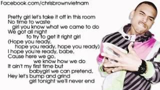 Chris Brown Take You Down Lyrics Video