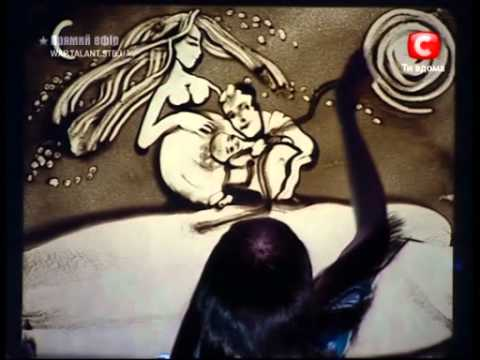 "Wow!!! Kseniya Simonova-Sand Art on the Superfinal ""Ukraine s got Talent""-"" ! "