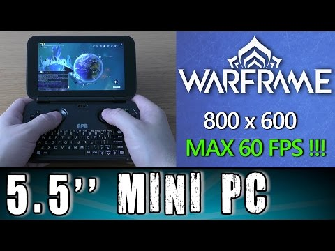 1# GPD Win Warframe (PC) MAX 60 FPS Portable Handheld Gaming Mini PC Intel X7 Z8700