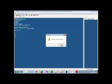 Video 2-Curso Programación de juegos con Blitz 3d - Variables, constantes y operadores matematicos