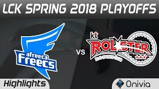 AFS vs KT Highlights Game 4 LCK Spring 2018 Playoffs Afreeca Freecs vs KT Rolster by Onivia