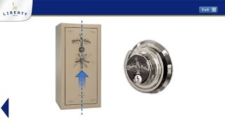 Liberty Safe - How to Operate Mechanical Lock with Key & Centered Handle