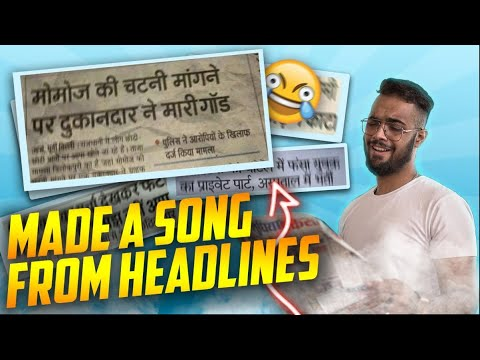Download Lagu I MADE A SONG FROM NEWSPAPER HEADLINES.mp3