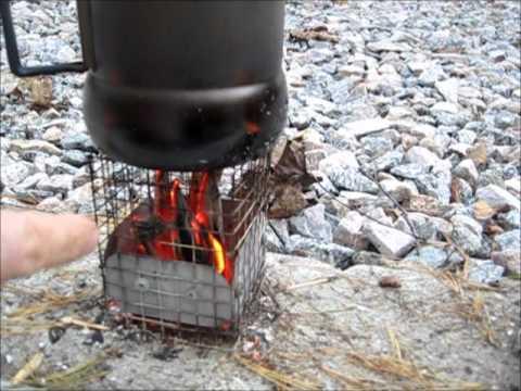 DIY ULTRALIGHT BACKPACKERS WOOD GAZ STOVE