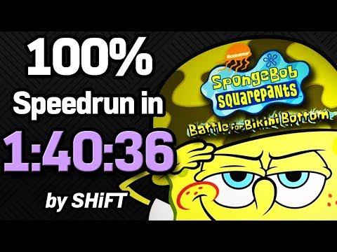 SpongeBob SquarePants: Battle for Bikini Bottom 100% Speedrun in 1:40:36 (WR on 3/22/2018) thumbnail
