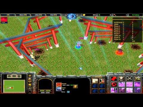 Warcraft III: TFT - Naruto Battle Royal - 34 - Kimimaro vs Hashirama vs Naruto