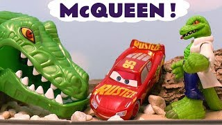 Disney Cars Toys McQueen Racing with Hot Wheels Cars for Kids and Avengers Spiderman TT4U